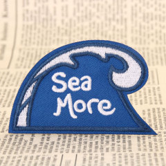 Sea More Embroidered Patches