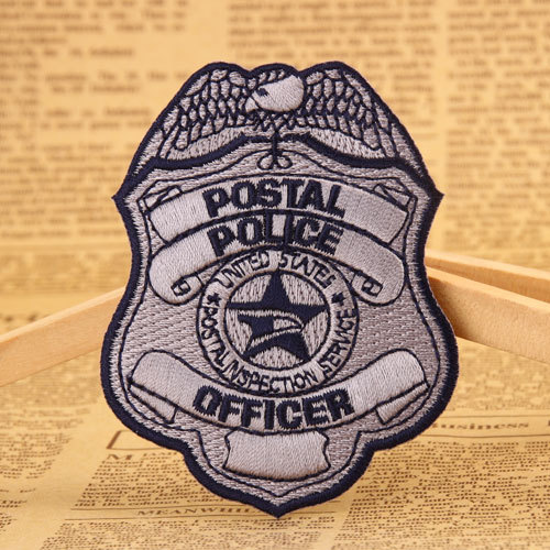 Police Badge Embroidered Patches
