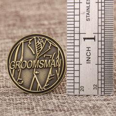 Groomsman custom pins