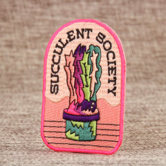 Succulent Society Embroidered Patches