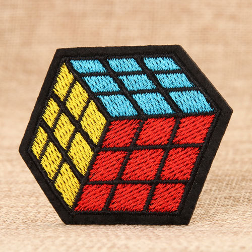 Rubik's Cube Embroidered Patches