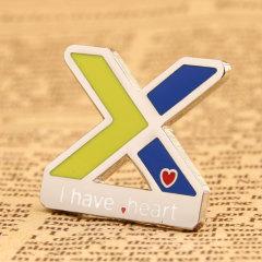X with Tiny Heart Lapel Pins