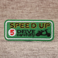 Speed Up Embroidered Patches