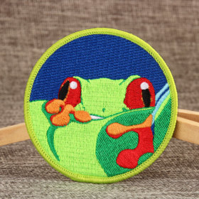Frog Embroidered Patches