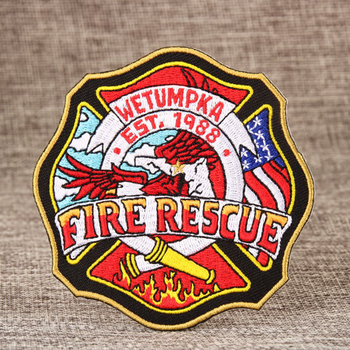 Fire Rescue Embroidered Patches