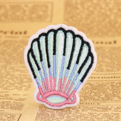 Shell Embroidered Patches