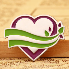 Heart with Branches Lapel Pins