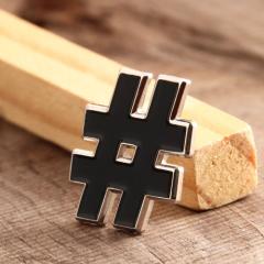 Symbol # Custom Enamel Pins