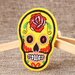 Skeleton Embroidered Patches