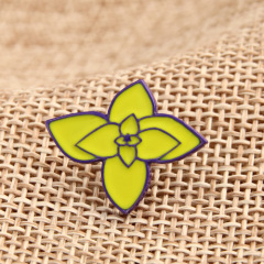 Small flower custom enamel pins