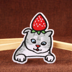 Strawberry Cat Custom Patches