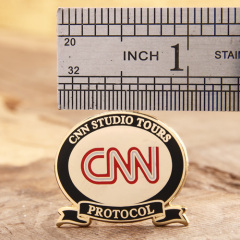 CNN custom enamel pins