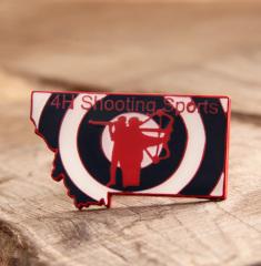 Shooting sports lapel pins