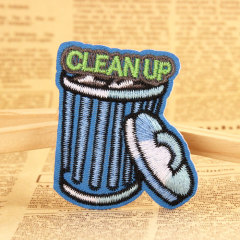 CLEANUP Embroidered Patches