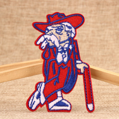 Old Red Crutch Custom Patches