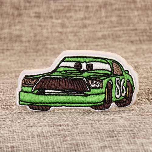Green Jeep Embroidered Patches
