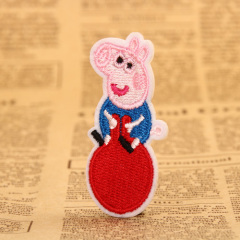 Pig George Embroidered Patches