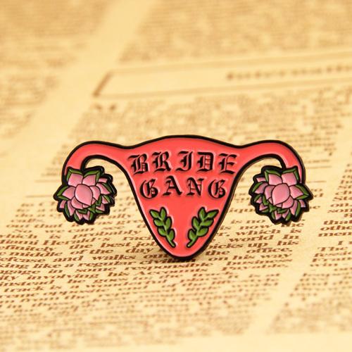 Uterus custom enamel pins