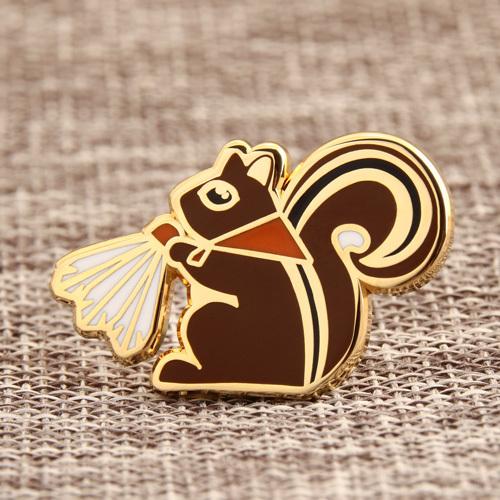 Squirrel custom lapel pins