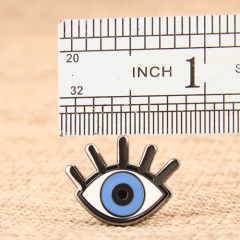 Blue eye custom pins