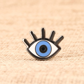 Blue eye custom pins