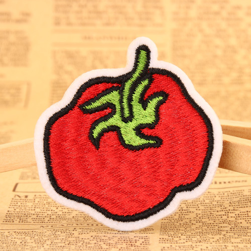 Tomato Embroidered Patches