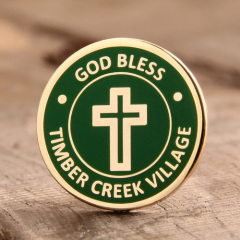 Prayer custom enamel pins