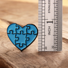 Jigsaw Heart Lapel Pins