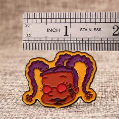 Braid girl lapel pins