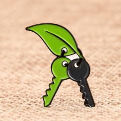Leaf Key Chain Lapel Pins
