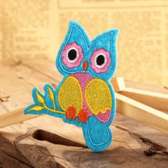 Colorful Owl Embroidered Patches