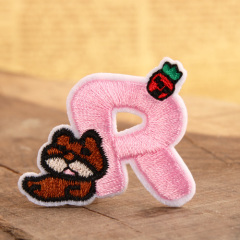 Lovely R Embroidered Patches