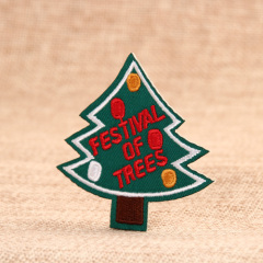 Christmas Tree Embroidered Patches