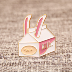 Rabbit Milk Carton Lapel Pins