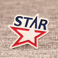 Metal star custom lapel pins