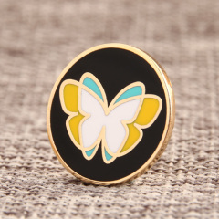 Butterfly shadow lapel pins