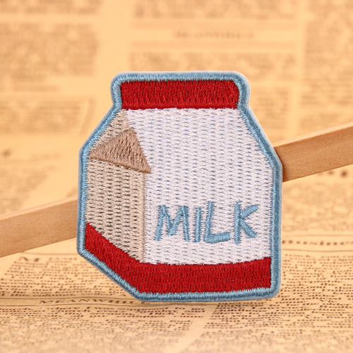 Milk Embroidered Patches