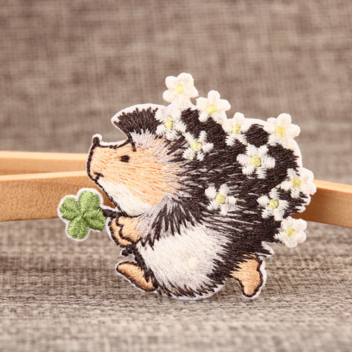 Hedgehog Embroidered Patches