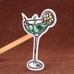 Cocktail Embroidered Patches