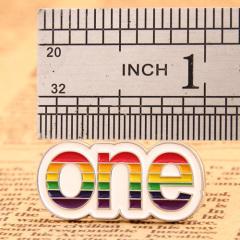 One Custom Enamel Pins