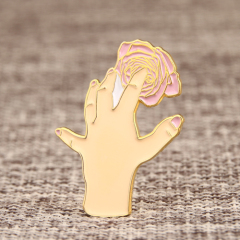 Touching flower lapel pins