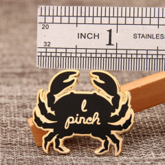 Crab custom lapel pins