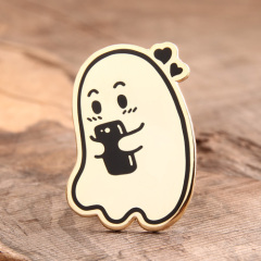 Lovely Ghost Lapel Pins