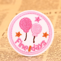 Balloon Embroidered Patches