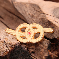 Double ring custom pins