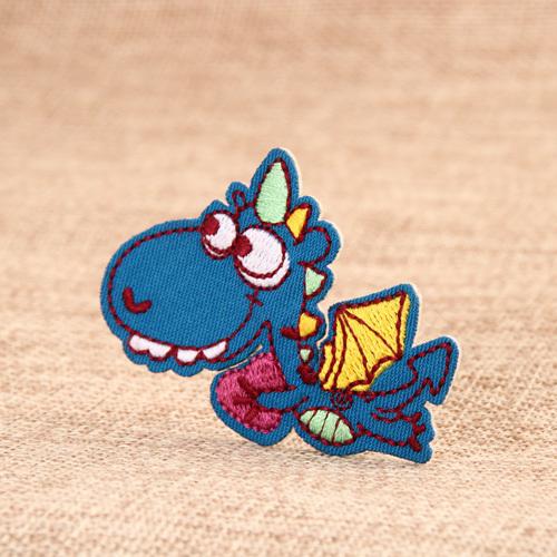 Blue Dinosaur Custom Patches