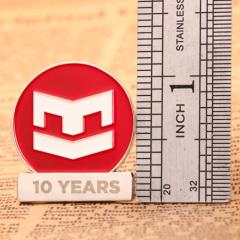 10th anniversary custom lapel pins