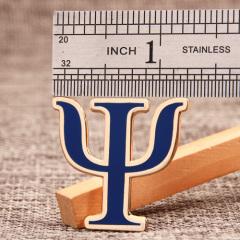 Psi Letter Custom Enamel Pins