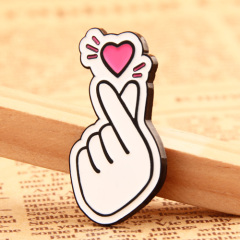 Finger Heart Lapel Pins