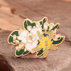 Flower hard enamel pins